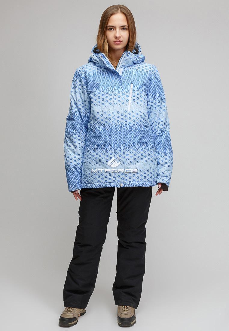 3db31dfc Купить Костюм горнолыжный женский большого размера голубого цвета 01830Gl