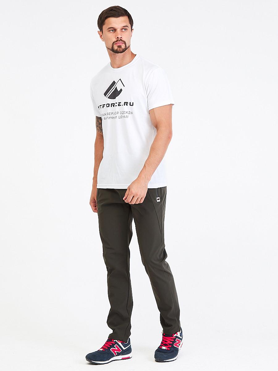 Купить Брюки мужские повседневные цвета хаки 00812Kh