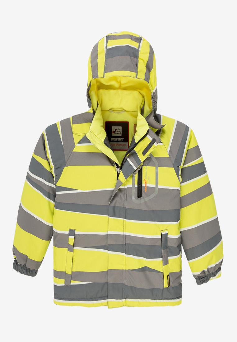 Купить Куртка демисезонная подростковая для мальчика желтого цвета 017J