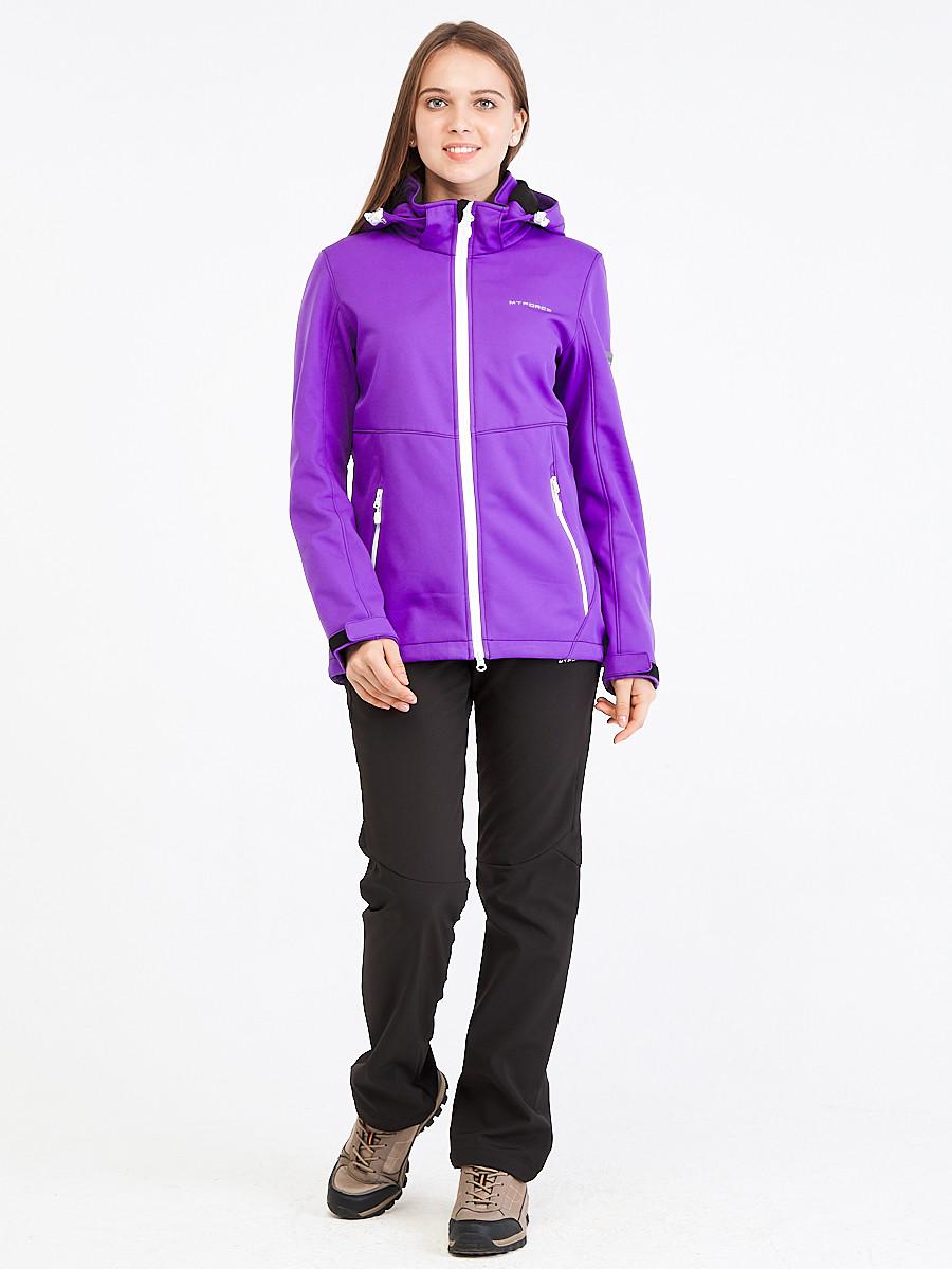 Купить Костюм женский softshell фиолетового цвета 019077-1F