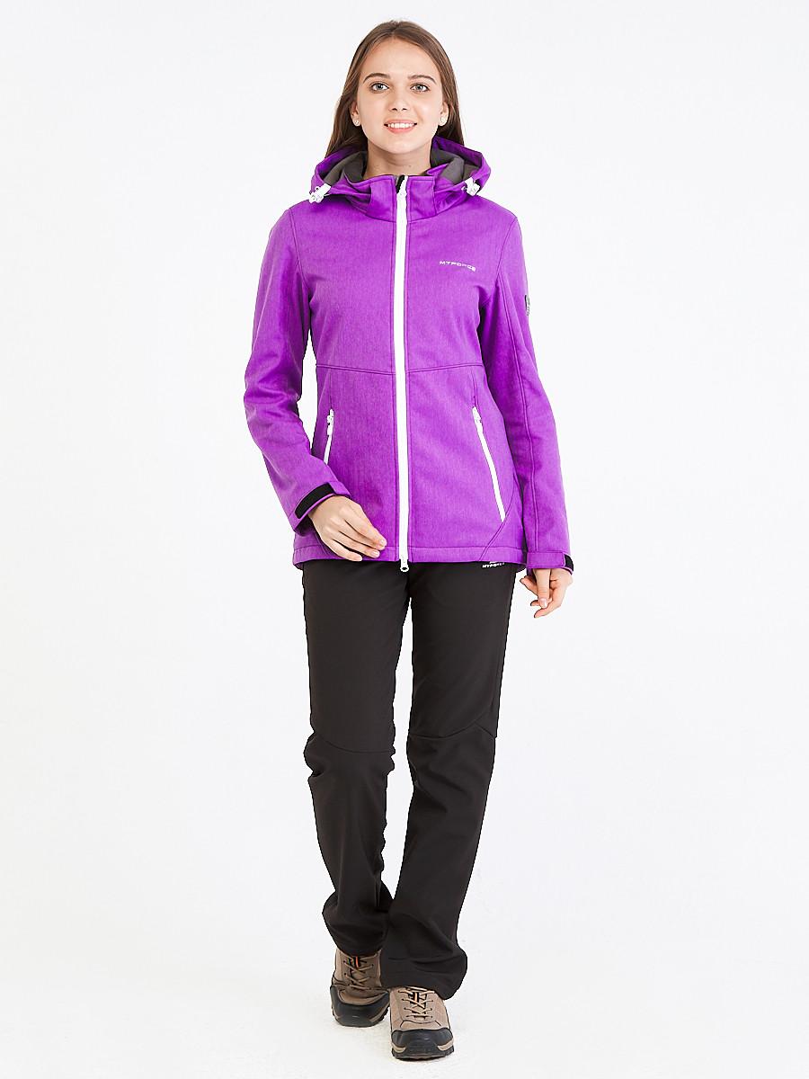 Купить Костюм женский softshell фиолетового цвета 019077F