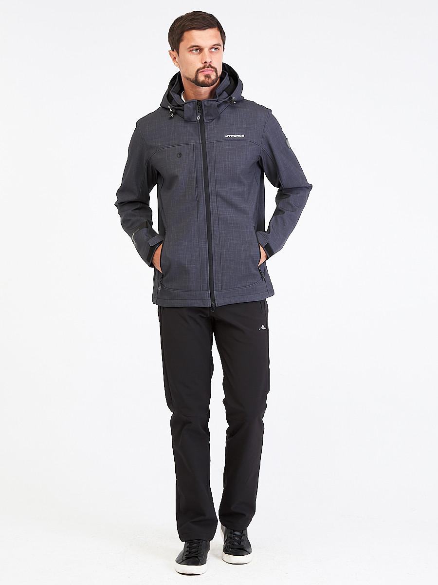 Купить Костюм мужской softshell темно-серого цвета 01915TC