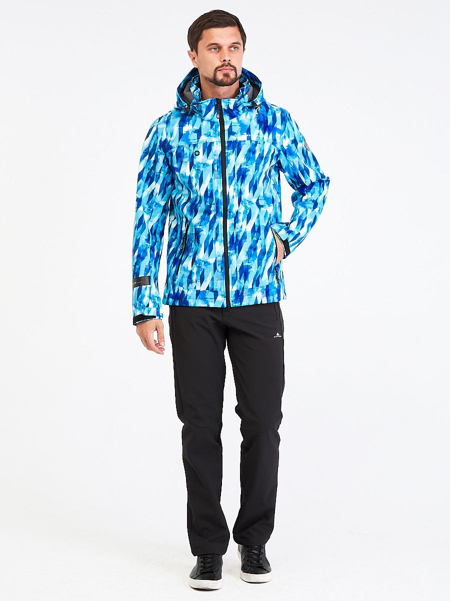Купить Костюм мужской softshell синего цвета 01915S