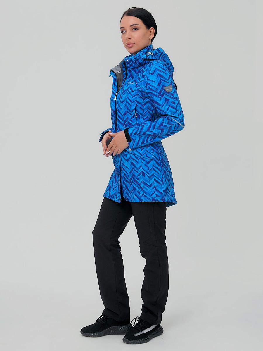 Купить Костюм женский softshell синего цвета 019221S