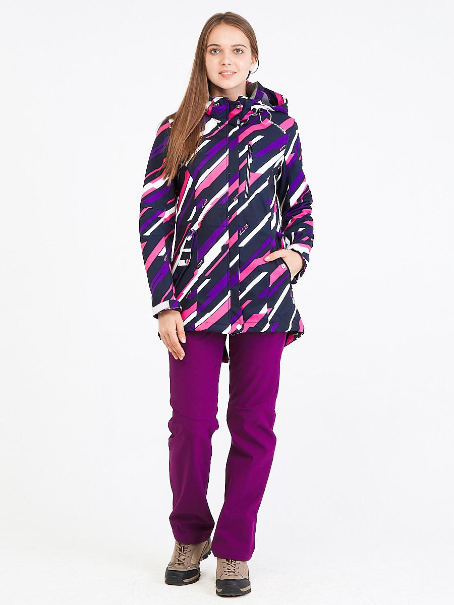 Купить Костюм женский softshell фиолетового цвета 01923-1F