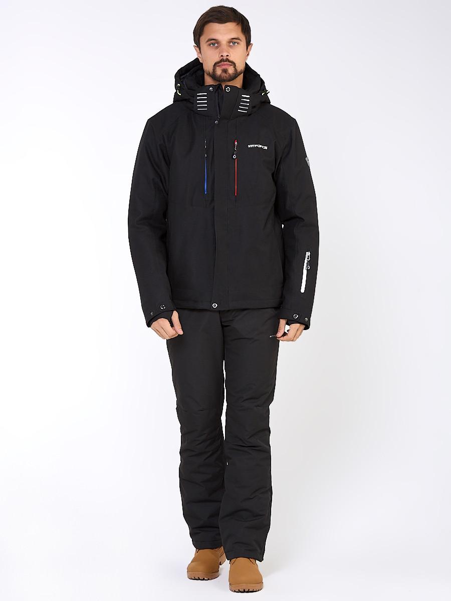 Купить Мужской зимний горнолыжный костюм черного цвета 01947Ch