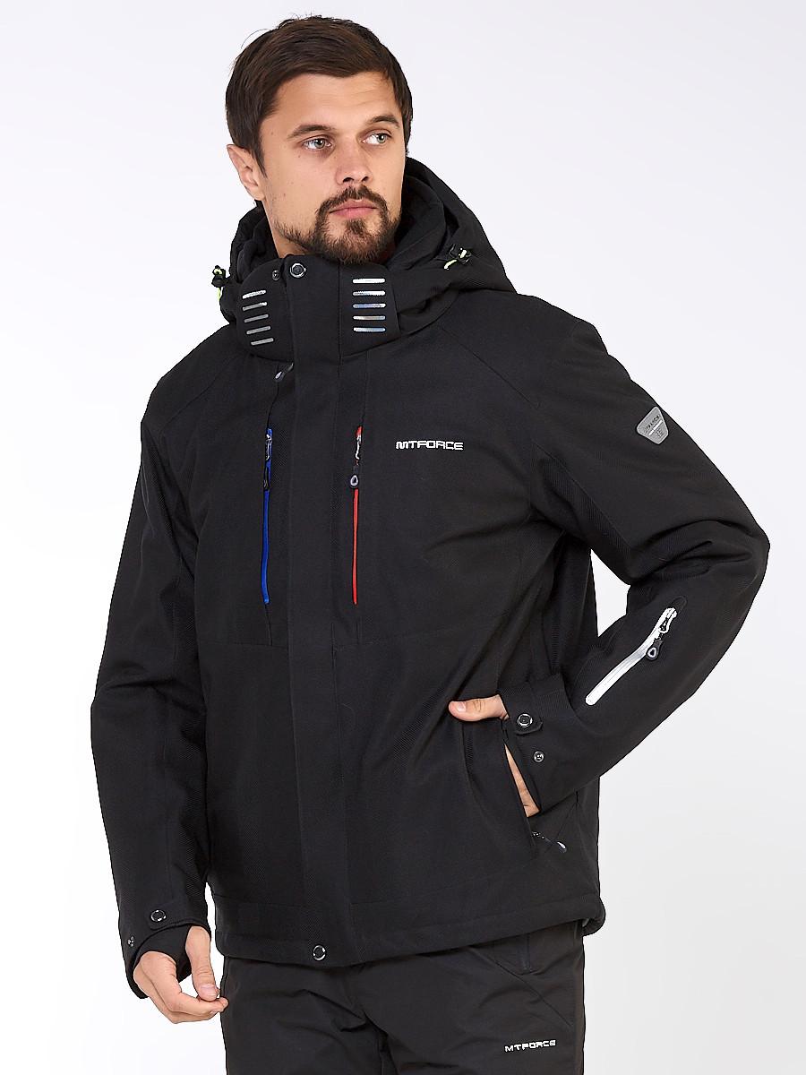 Купить Мужская зимняя горнолыжная куртка большого размера черного цвета 19471Ch