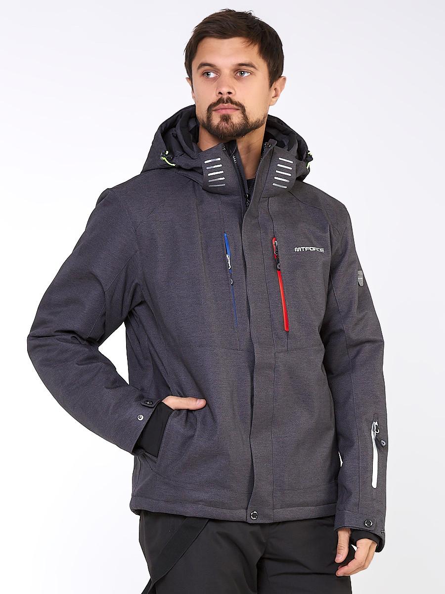 Купить Мужская зимняя горнолыжная куртка большого размера темно-серого цвета 19471TC