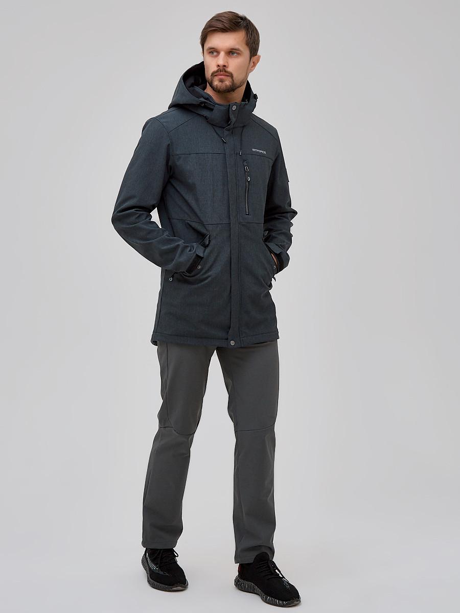 Купить Спортивный костюм мужской softshell серого цвета 02018Sr