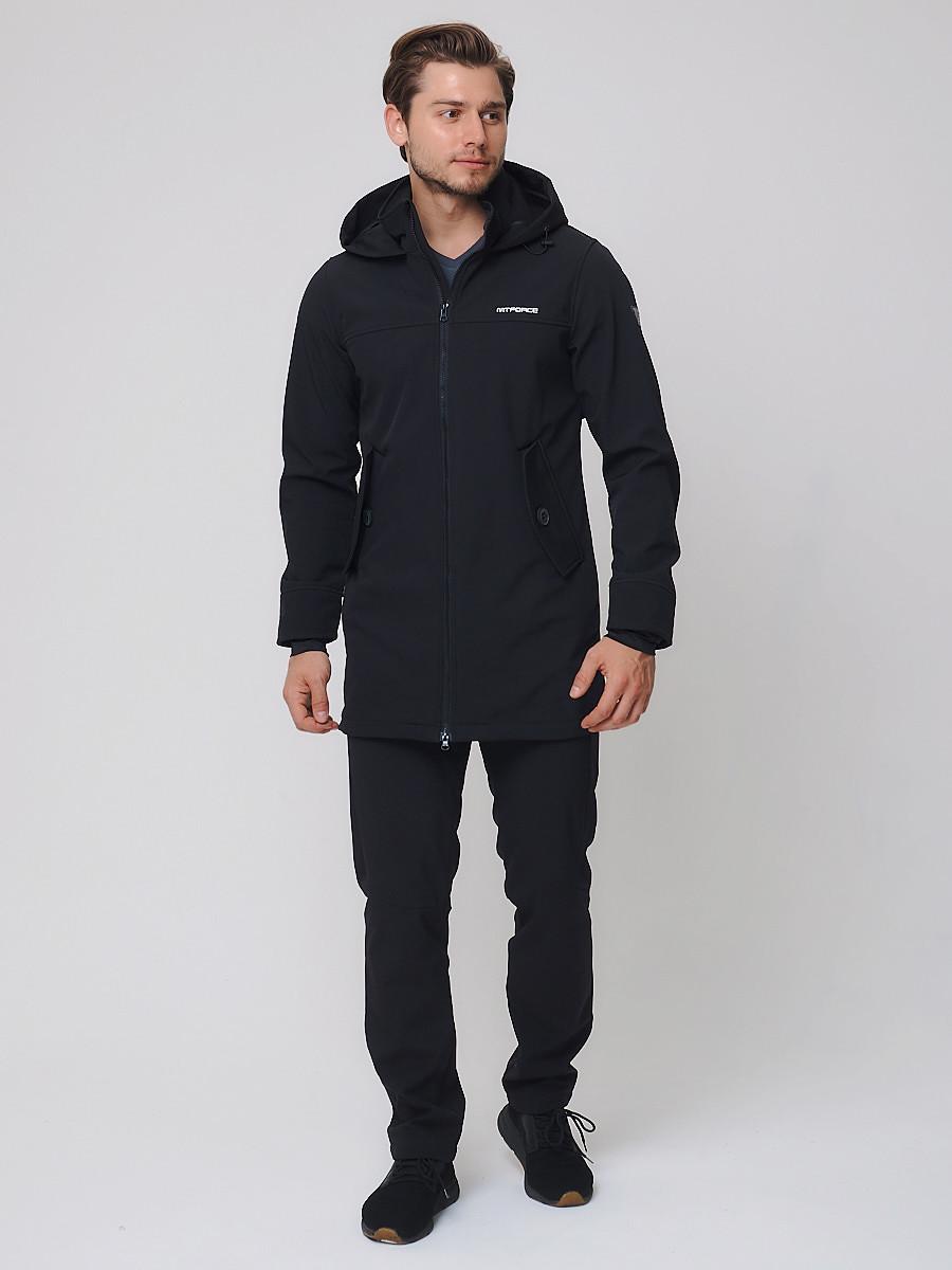 Купить Спортивный костюм мужской MTFORCE черного цвета 02020Ch