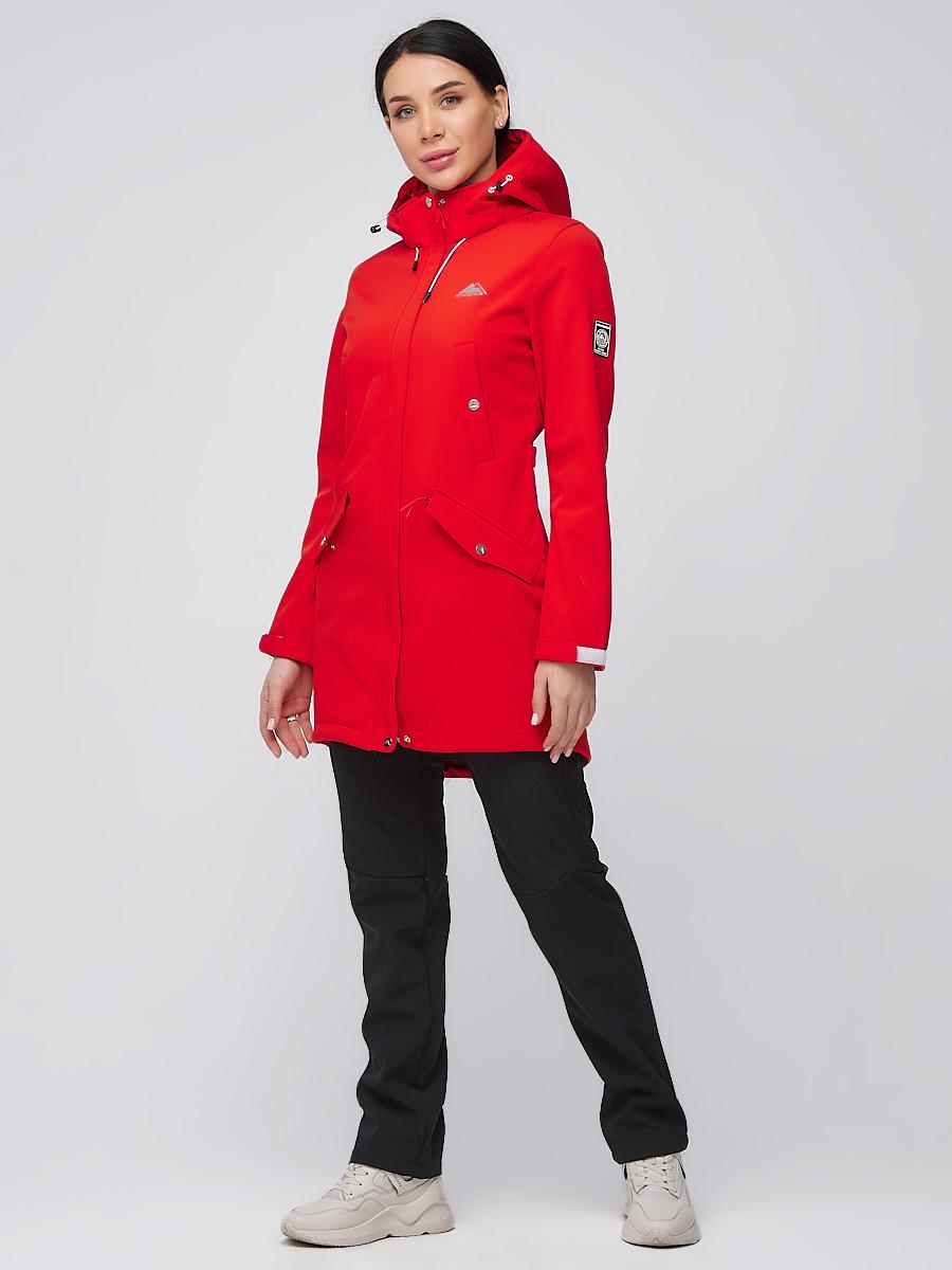 Купить Костюм женский softshell красного цвета 02026Kr