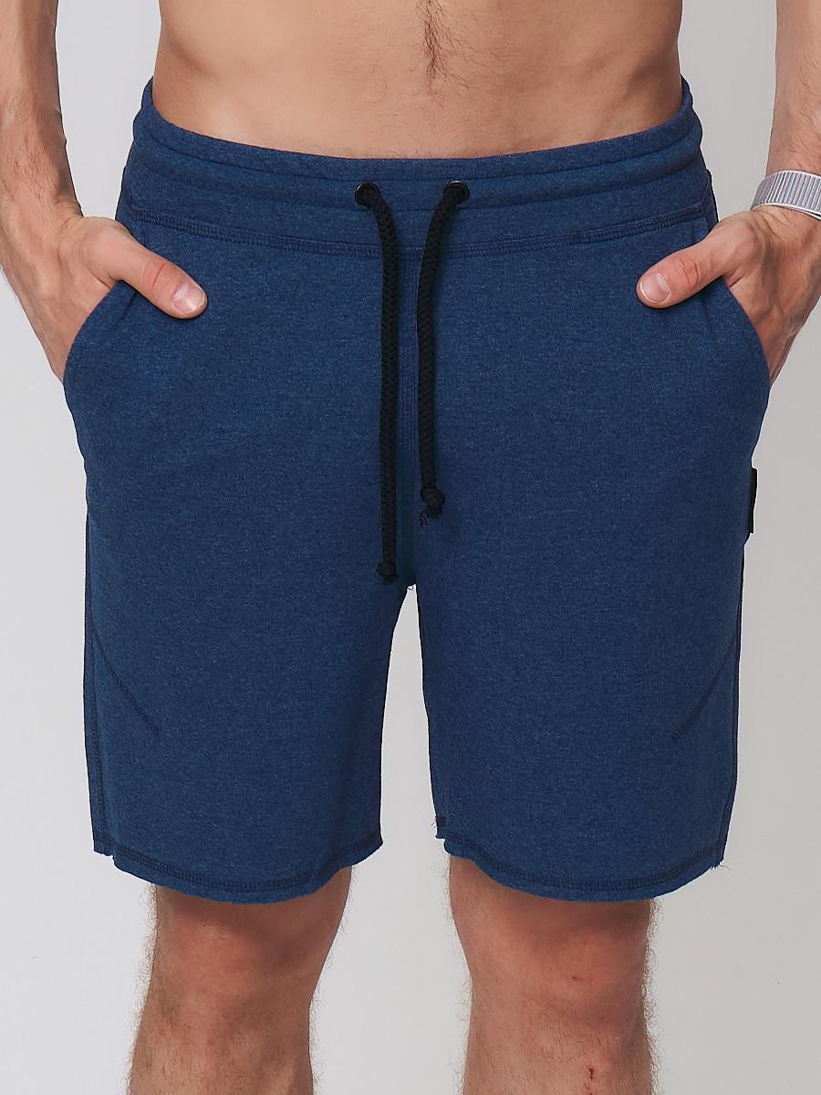Купить Летние шорты трикотажные мужские темно-синего цвета 050620TS