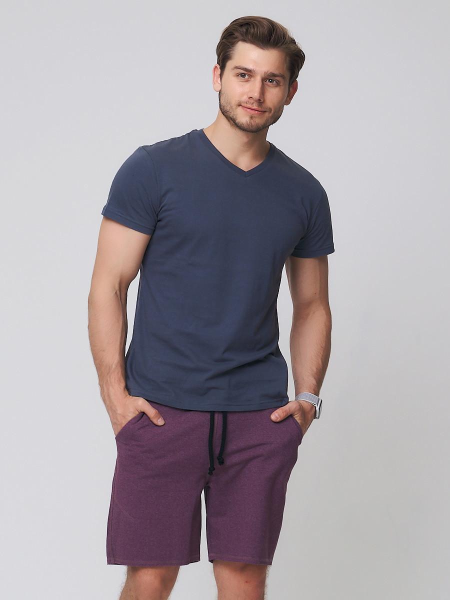 Купить Летние шорты трикотажные мужские коричневого цвета 050620K