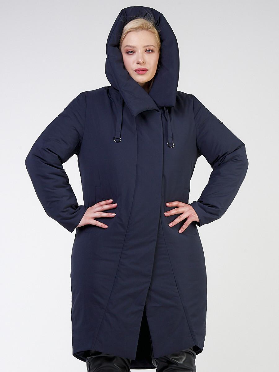Купить Куртка зимняя женская классическая темно-синего цвета 118-932_15TS