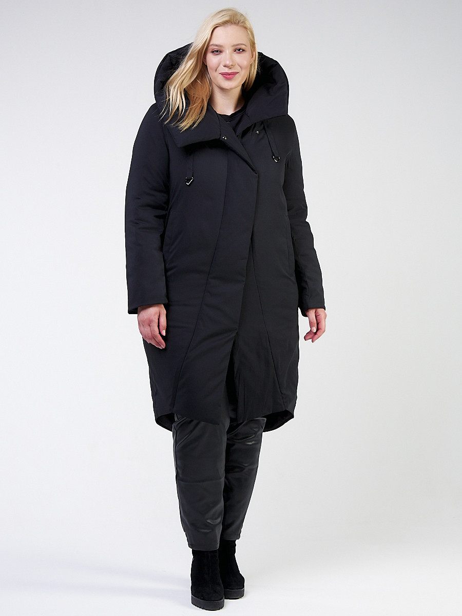Купить Куртка зимняя женская классическая черного цвета 118-932_701Ch