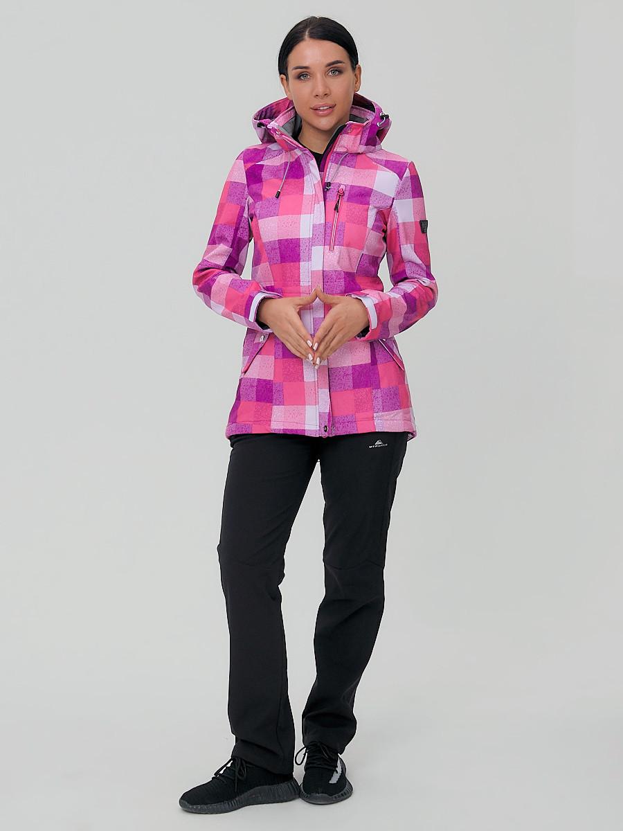 Купить Костюм женский softshell розового цвета 01923R