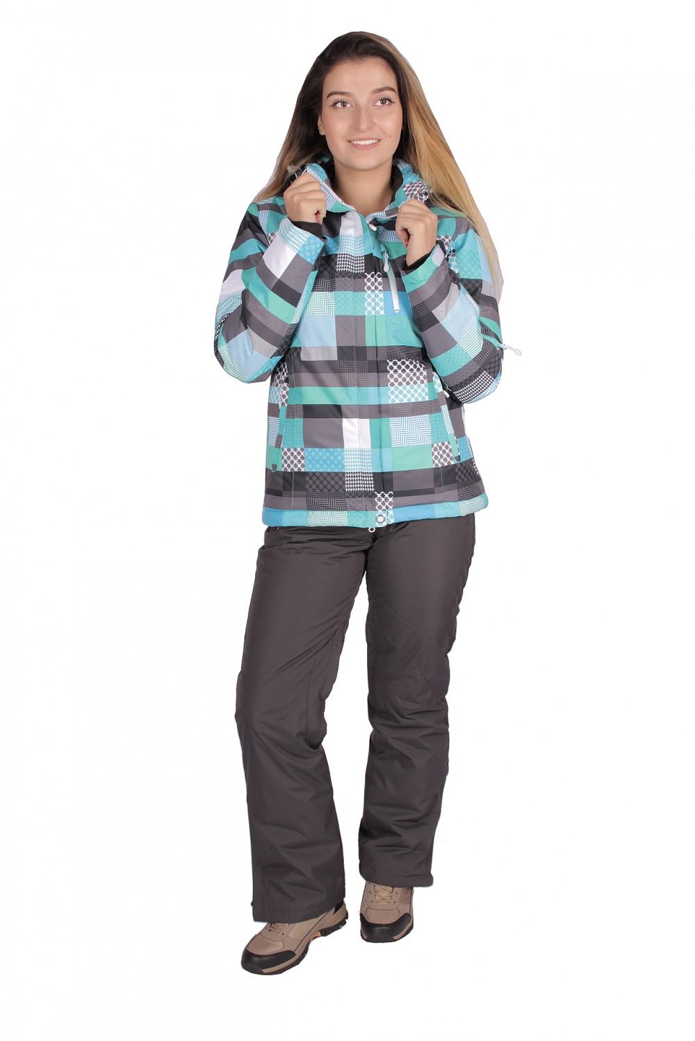 Купить Костюм горнолыжный женский бирюзового цвета 01784Br