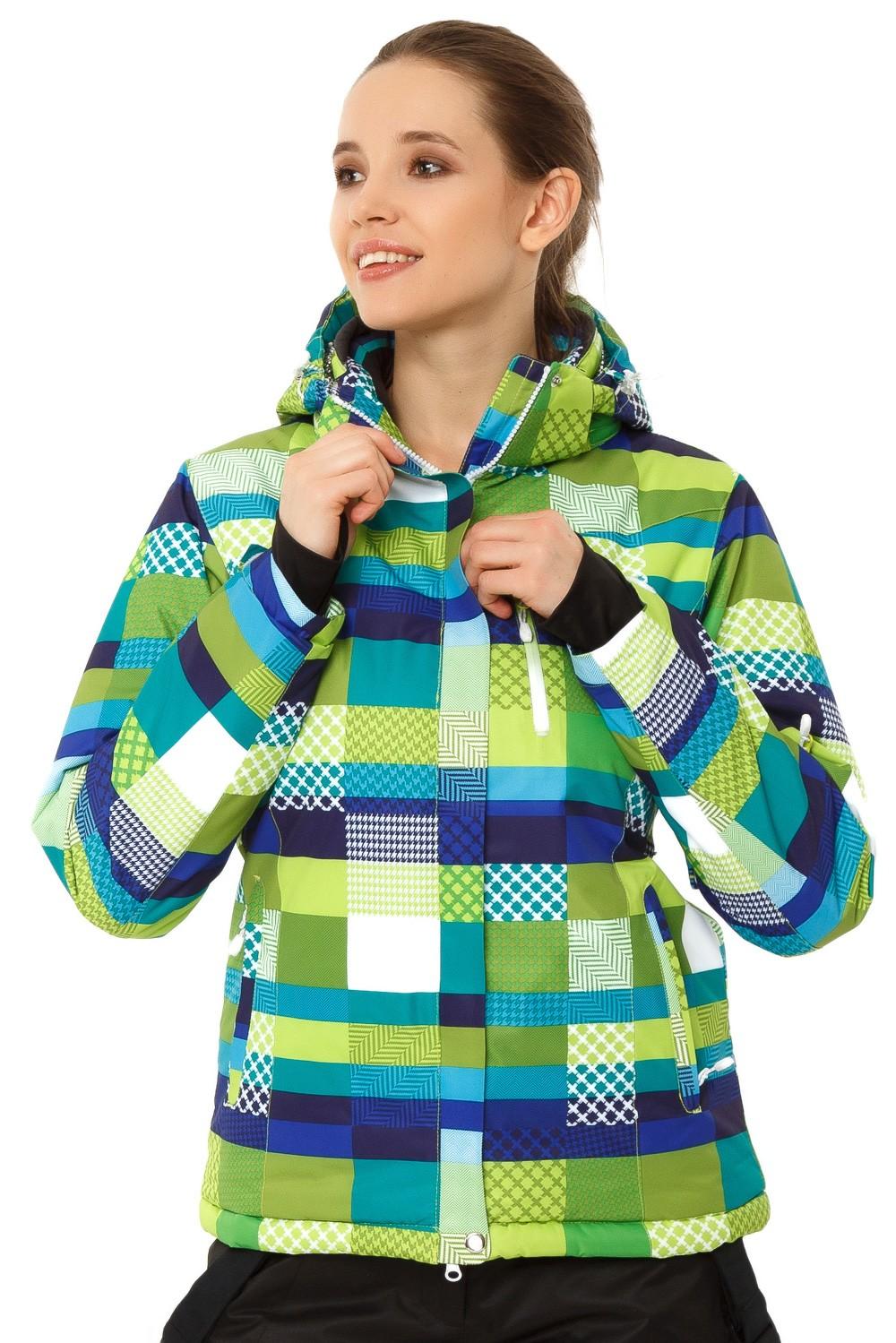 Купить Куртка горнолыжная женская желтого цвета 1784J