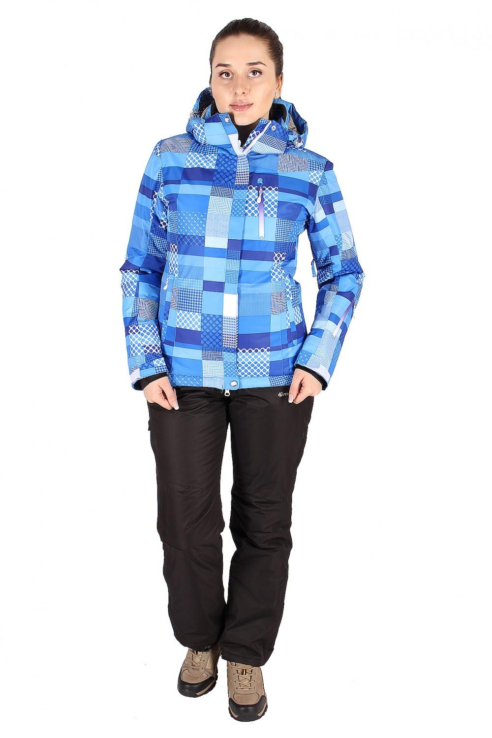 Купить Костюм горнолыжный женский синего цвета 01784S