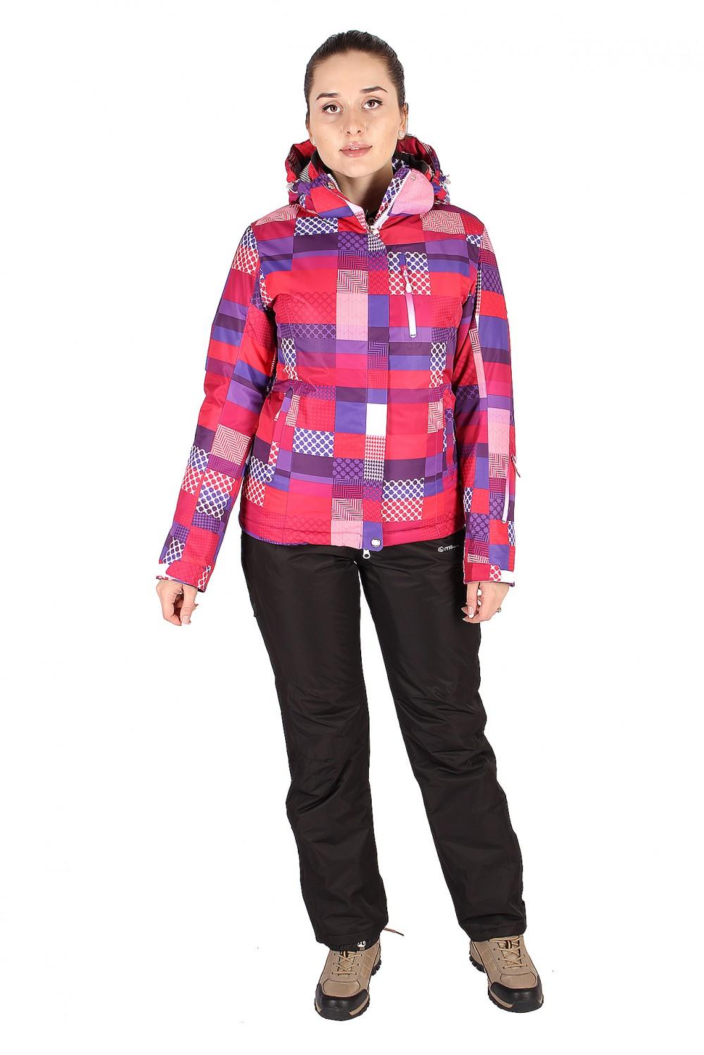 Купить Костюм горнолыжный женский розового цвета 01784R