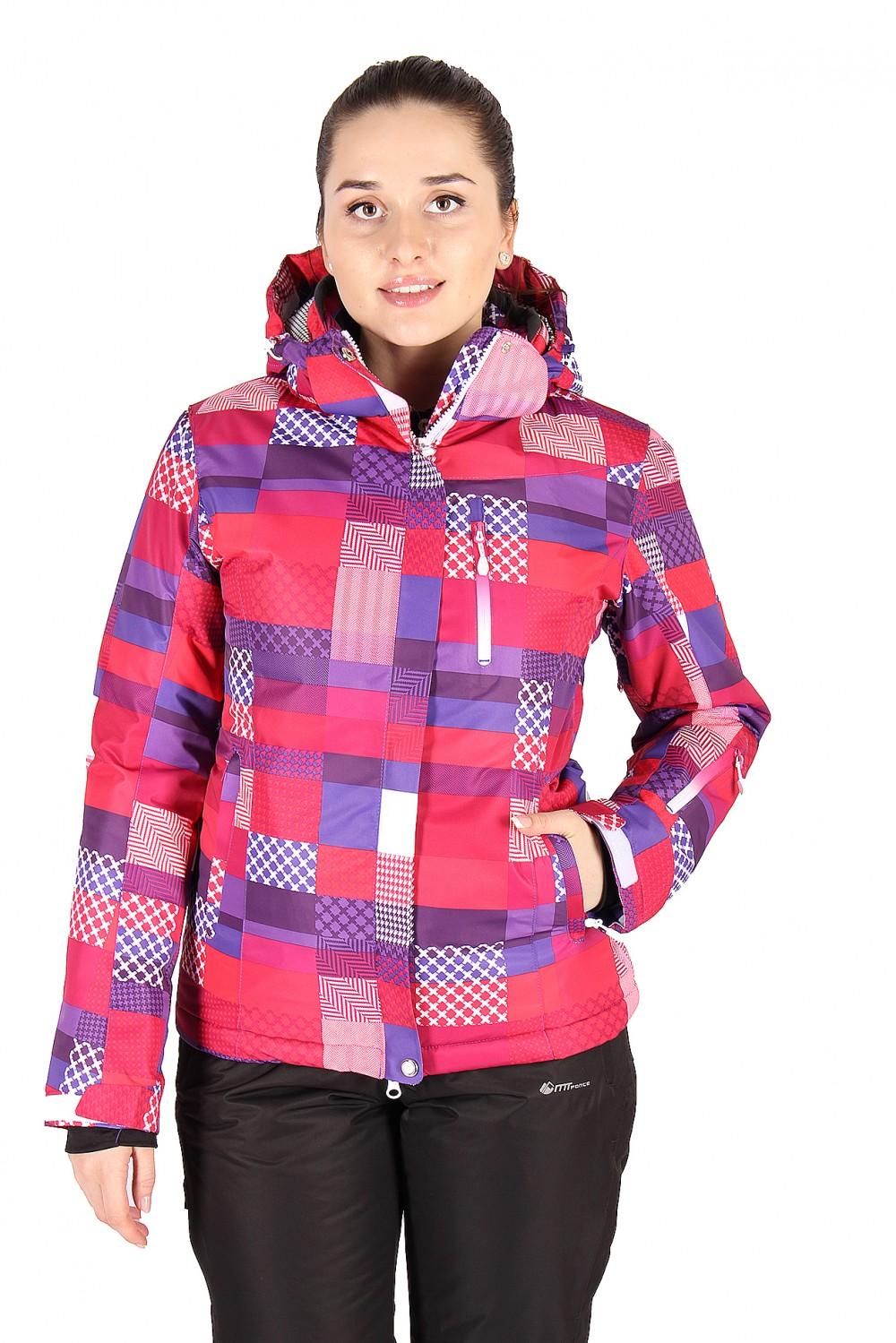 Купить Куртка горнолыжная женская розового цвета 1784R