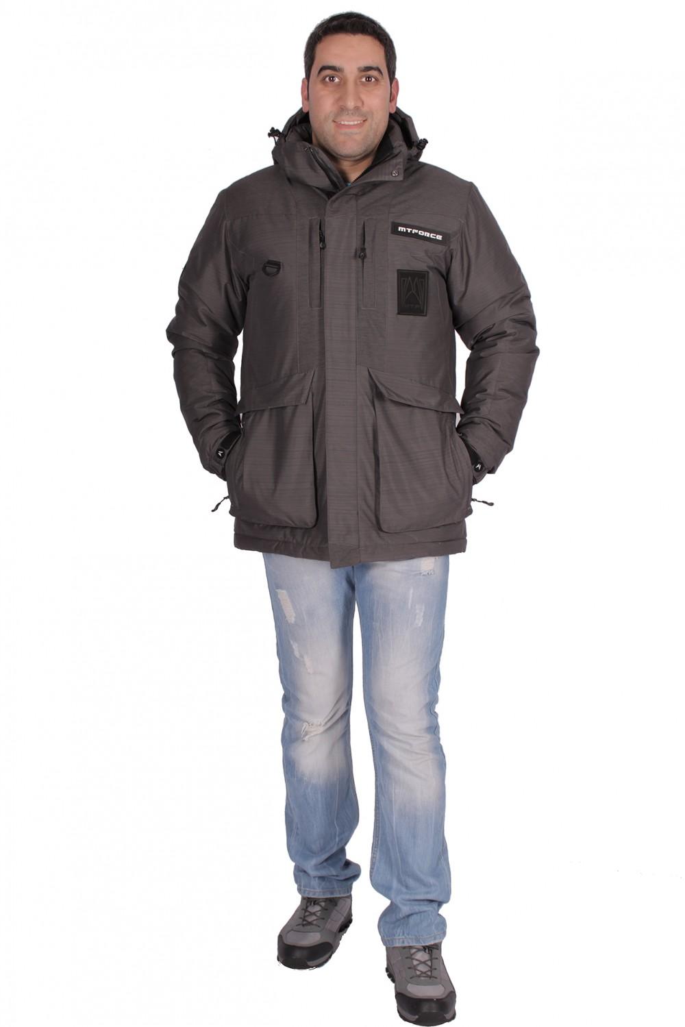 Купить Куртка зимняя мужская темно-серого цвета 1629TC