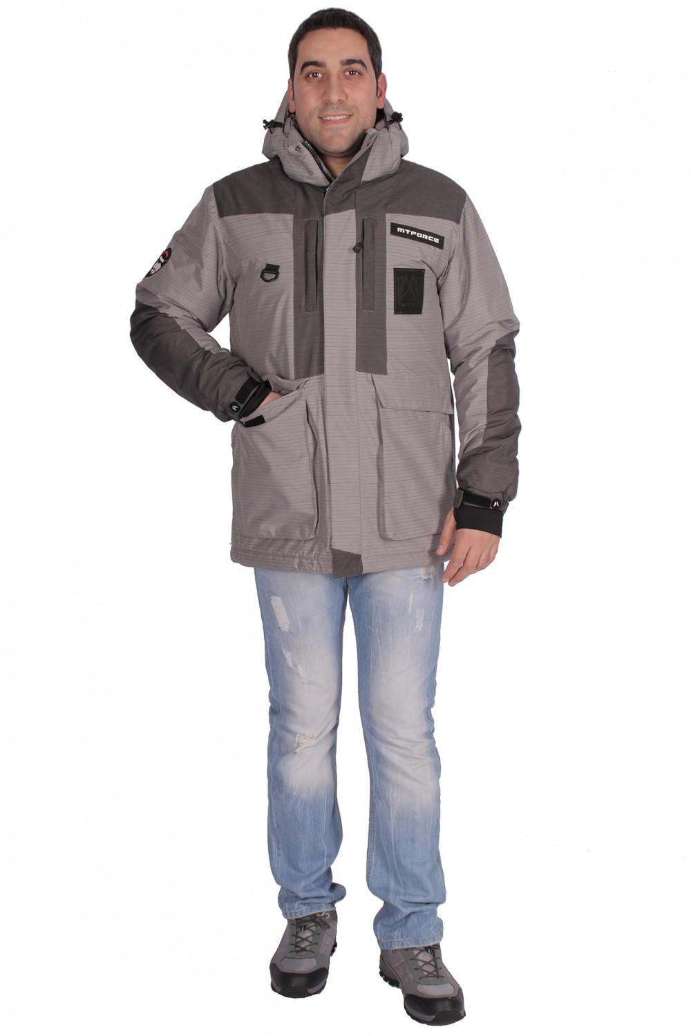 Купить Куртка зимняя мужская серого цвета 1629Sr