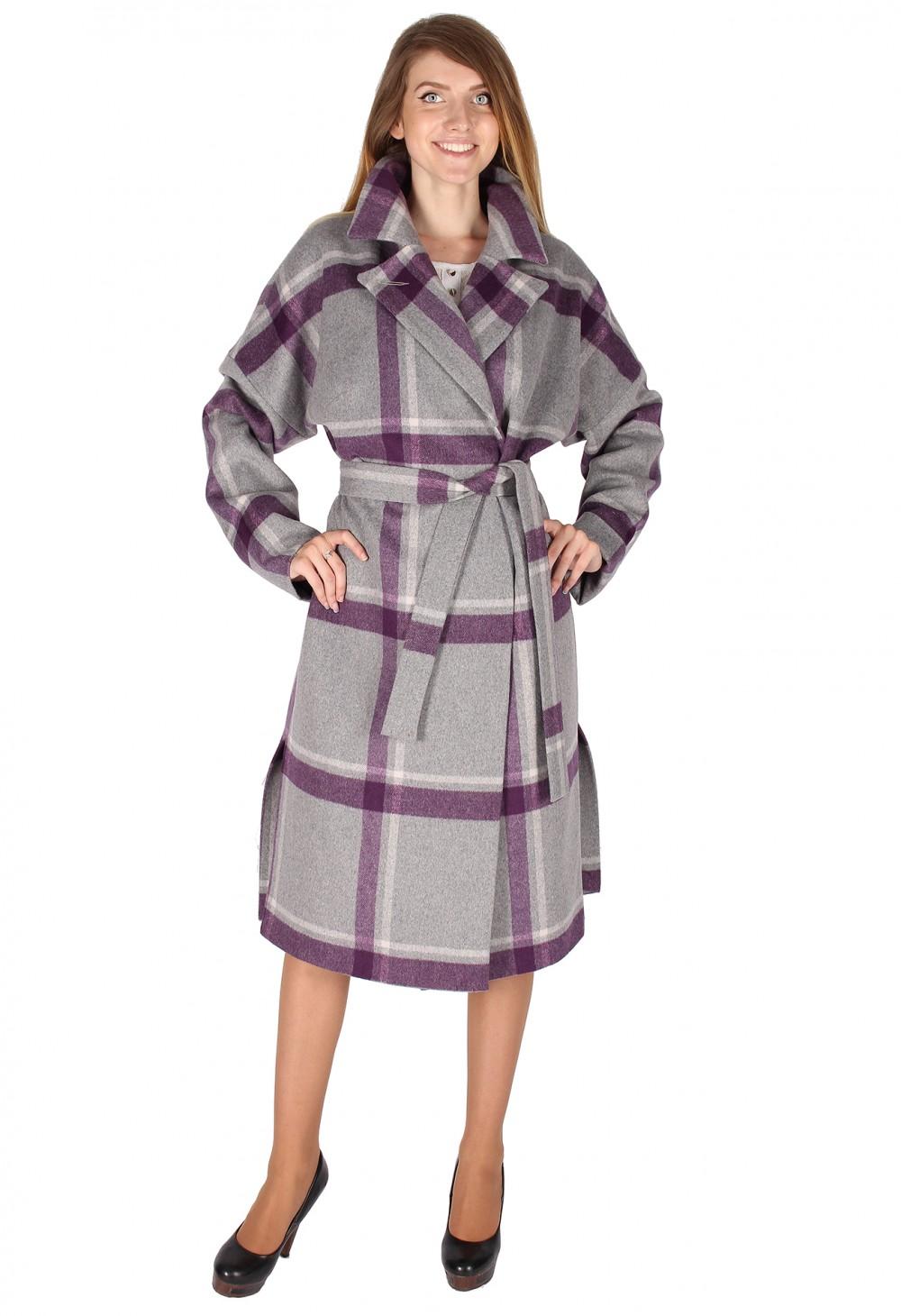 Купить Пальто женское фиолетового цвета 16304F