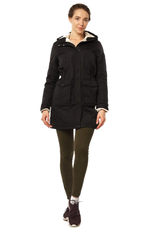 Купить Куртка парка демисезонная женская черного цвета 17099Ch