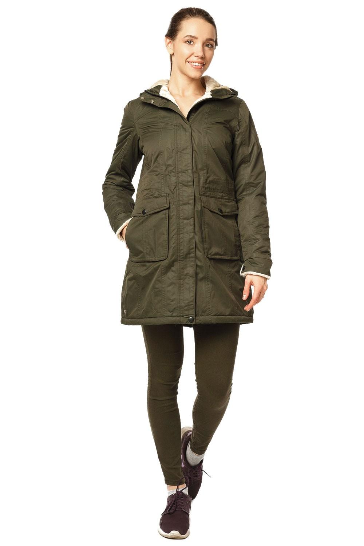 Купить Куртка парка демисезонная женская хаки цвета 17099Kh