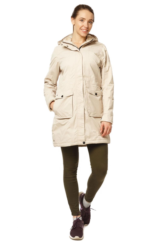 Купить Куртка парка демисезонная женская ПИСК сезона бежевого цвета 17099B