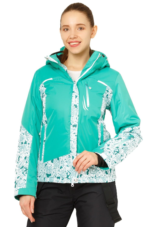 Купить Куртка горнолыжная женская зеленого цвета 17122Z