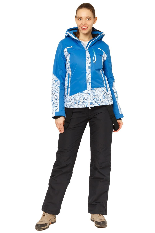Купить Костюм горнолыжный женский синего цвета 017122S
