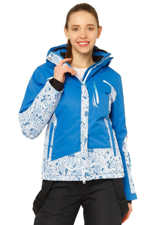 Купить Куртка горнолыжная женская синего цвета 17122S