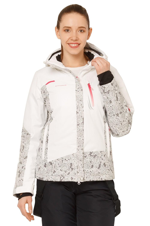 Купить Куртка горнолыжная женская белого цвета 17122Bl