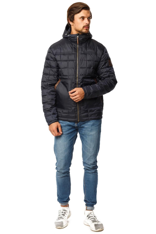 Купить Куртка мужская стеганная темно-синего цвета 1741TS