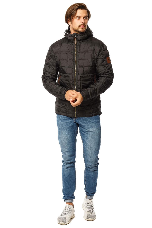 Купить Куртка мужская стеганная черного цвета 1741Ch