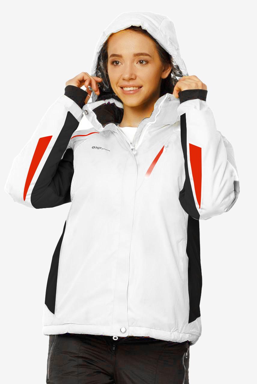 Купить Куртка горнолыжная женскаябелого цвета 1765Bl