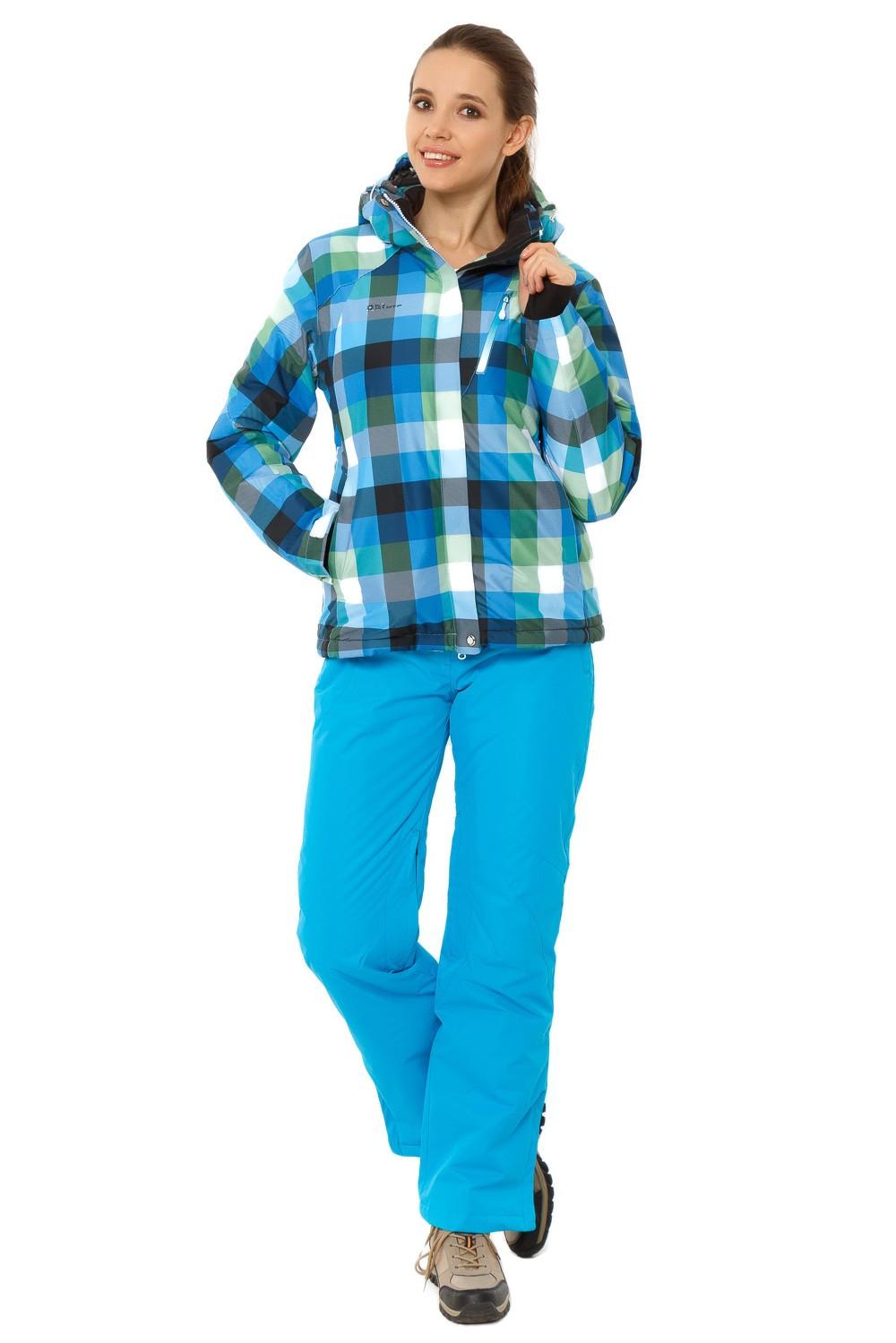 Купить Костюм горнолыжный женский голубого цвета 01807Gl