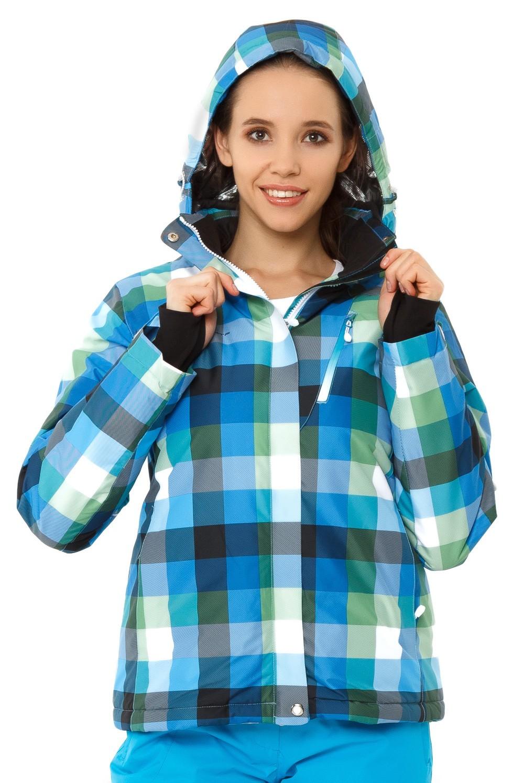 Купить Куртка горнолыжная женская голубого цвета 1807Gl