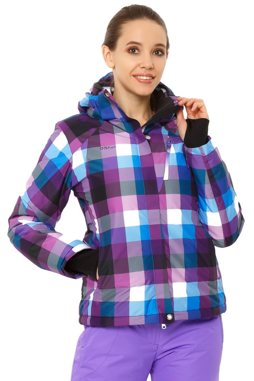 Купить Куртка горнолыжная женская фиолетового цвета 1807F