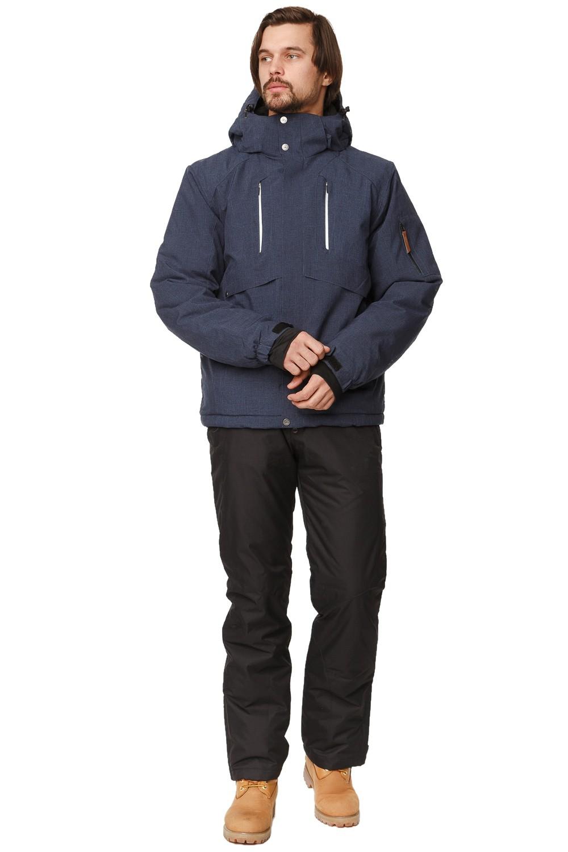 Купить Костюм горнолыжный мужской темно-синего цвета 01768TS