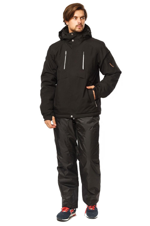 Купить Костюм горнолыжный мужской черного цвета 01768Ch