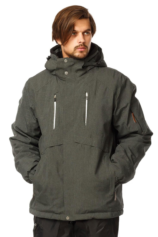 Купить Куртка горнолыжная мужская хаки цвета 1768Kh