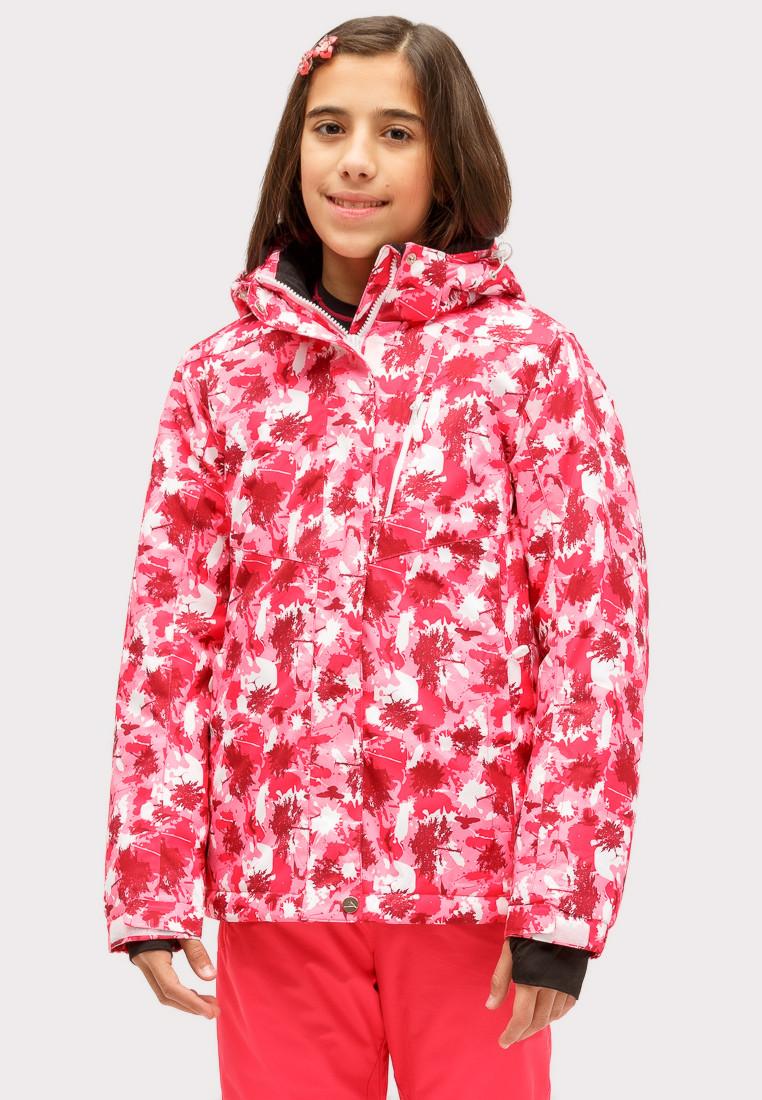 Купить Куртка горнолыжная подростковая для девочки розового цвета 1773R