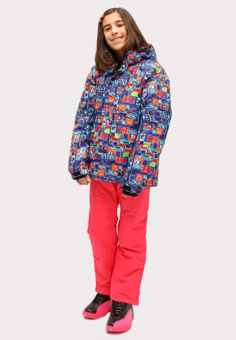 Купить Костюм горнолыжный для девочки оранжевого цвета 01773O