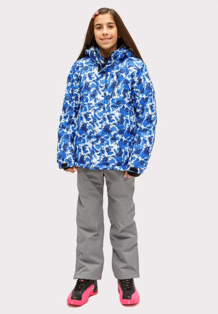 Купить Костюм горнолыжный для девочки синего цвета 01773S