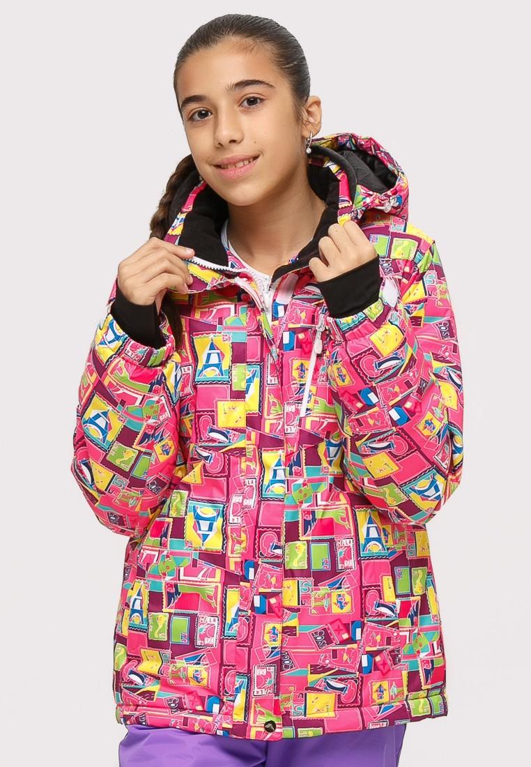 Купить Куртка горнолыжная подростковая для девочки розового цвета 1774-1R