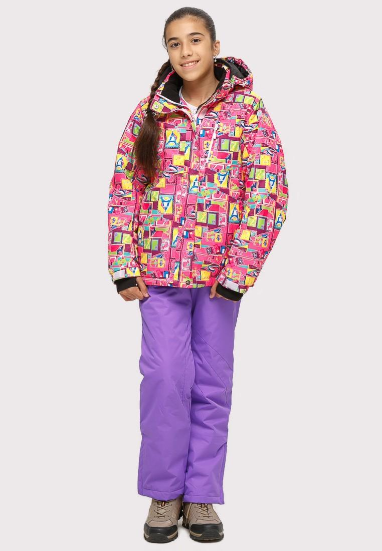 Купить Костюм горнолыжный для девочки розового цвета 01774-1R