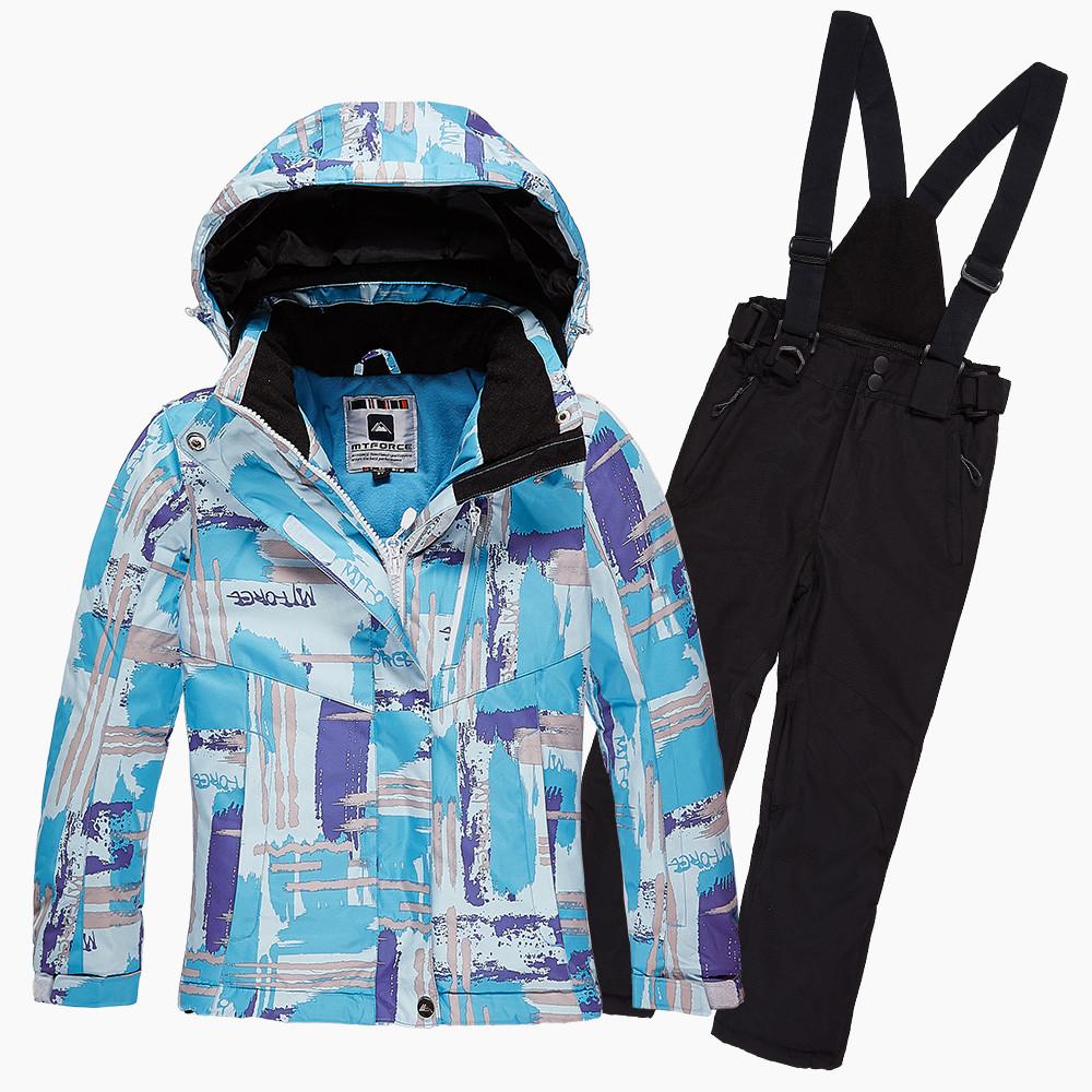 Купить Костюм горнолыжный для девочки голубого цвета 01774Gl